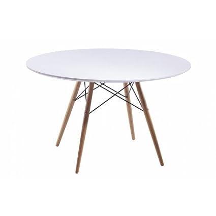 Deskandsit MSA 122002 - Tavolo rotondo di design da 110 cm: Amazon ...