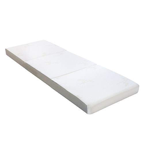 Milliard Tri Folding Mattress, with Ultra Soft Removable Cover and Non-Slip Bottom, (Single 75