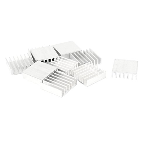 uxcell 10 Pcs 20mm x 20mm x 6mm Aluminum Heatsink for IC MOSFET SCR