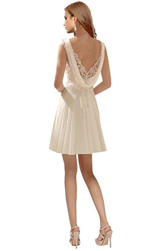 Brautkleider Damen Kurz Milano Hochzeitskleider Spitze Bride Mintegruen V Chiffon Rueckenfrei Festkleider Brautmode Ausschnitt Elegant wSBR0