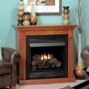 Empire EMBF11SC Standard Cabinet Mantel with Base - Cherry