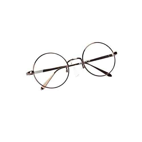 Sharplace Verres Ronde Lunettes Transparente Métal Monture Vintage qq6ZUnwf