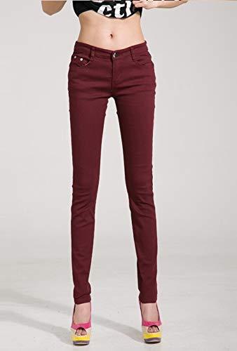 7100a444246da Amazon.com: Autumn Water Autumn Women Pencil Jeans Candy Colored Mid ...