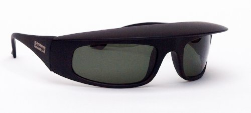 Solergy Visor Glare Blocking Wrap Around Polarized Sunglasses, 100 UVA UVB protection for sports and every day use. cushioned case, XL cleaning cloth sport band included