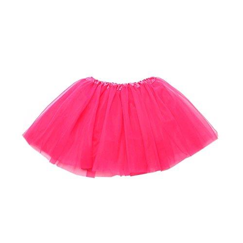 Tortoise & Rabbit Femmes Adulte Danse Classique fte Costume t Pettiskirt Mini Jupe Tutu Skirt Rose Rouge