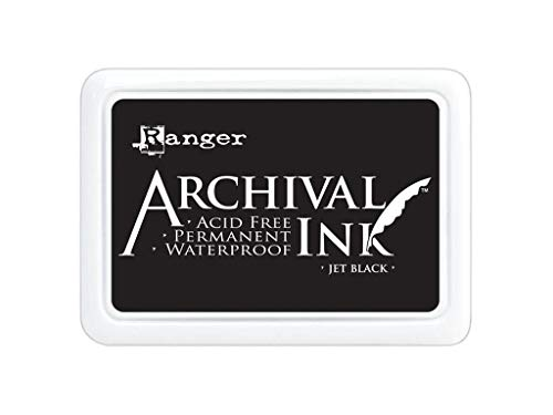 Waterproof Stamp Pad - Ranger Archival Jumbo Inkpad #3, Jet Black