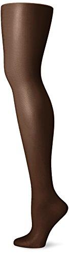 n Mist 2 Pair Control Top Silky Sheer Leg Panty Hose,Jet Black,B ()