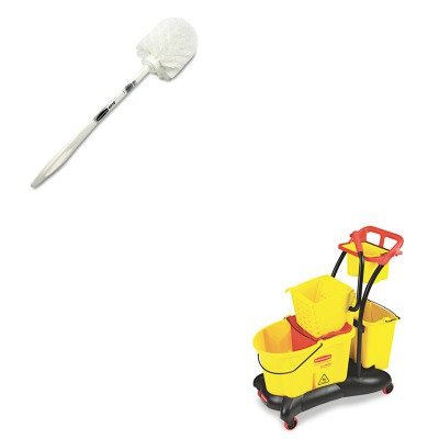 KITRCP631000WERCP778000YW - Value Kit - Rubbermaid-Wavebrake Mopping Trolley Side Press (RCP778000YW) and Rubbermaid Toilet Bowl Brush (Rubbermaid Wavebrake Mopping Trolley)