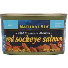 Natural Sea Premium Alaskan Pink Salmon - Salted, 7.5 Ounce - 12 per case. by Natural Sea