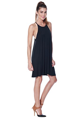 Knit Casual Swing Black Dress Shift Alexander Halter Womens Tank Tunic Jersey David Px8AqvnA0