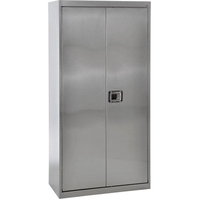 Sandusky Lee SA4D482478-XX 304 Stainless Steel Storage Cabinet with Paddle Lock, 78
