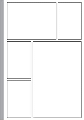 empty comic strip template  Blank Comic Book: Template 5-5 Panel Layouts | Draw Your Own ...