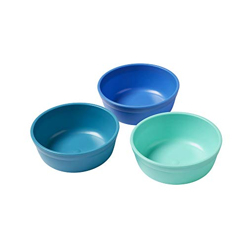 ECR4Kids My First Meal Pal Snack Plastic Kids Bowls - BPA-Free, Dishwasher Safe, Stackable Bowls for Baby, Toddler and Child Feeding - 3-Pack, Tropical