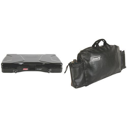 Coleman Triton Series 2-Burner Stove and Coleman Small Stove Carry Case Bundle by Coleman