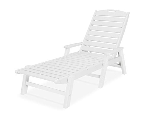 (POLYWOOD NCC2280MA-P Nautical Arms Chaise, White)