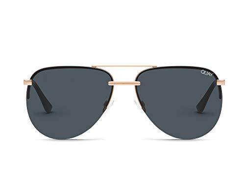 Quay Women's The Playa Sunglasses, Rose/Smoke, Rose Gold, One ()