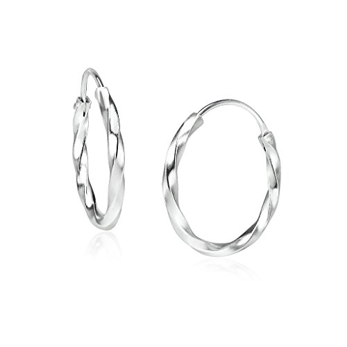 Big Apple Hoops - Genuine 925 Sterling Silver