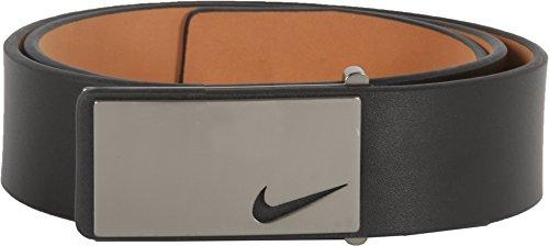Nike Men's Sleek Modern Plaque Belt, Black, 38