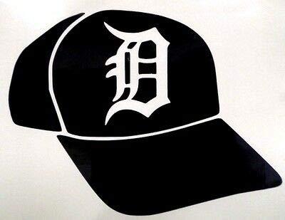 Yilooom Baseball Hat Detroit Tigers Car Window Vinyl Decal Sticker
