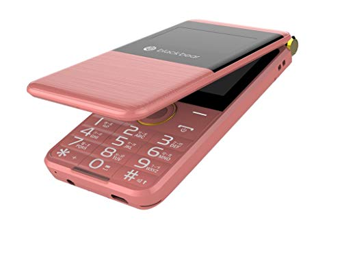Renewed Blackbear Featur Mobile Phone i7 Trio Rose Gold Col