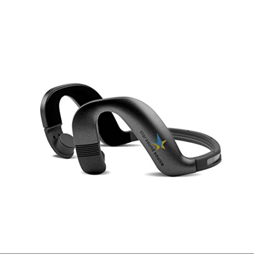 Star Soud Source Bone Conduction Headphones Headset Hearing Aid Wireless Bluetooth 4.1 Earphone Headphones Headset with Built-in Microphone for City Sports like Cycling Riding Driving EZ5000