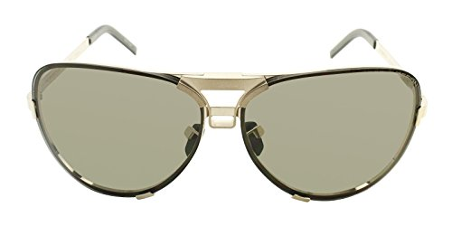 Porsche Design Titanium Sunglasses P8678 C Gold 67-11 - Unisex - Porsche Design Vintage Sunglasses