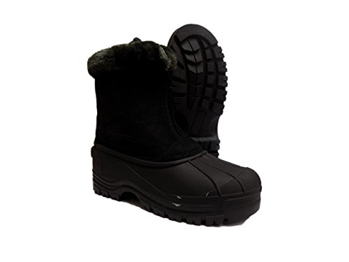 Itasca Womens Boots (Itasca SNOWSLIDE Womens Black Suede Front Zip Warm Winter Snow Boots (9, Black))