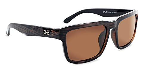 (Optic Nerve Polarized Sunglasses, Mashup Glasses - Shiny Driftwood Demi with Polarized Brown)