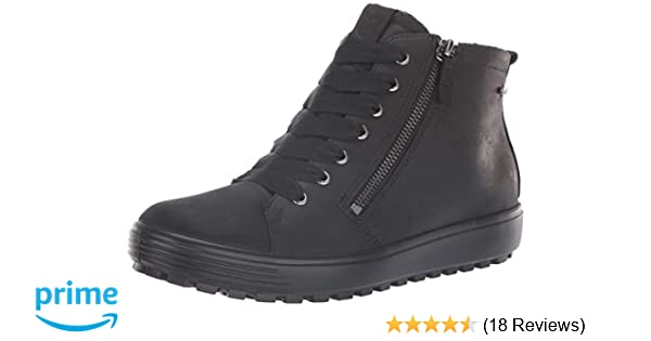 50f16d55c Amazon.com   ECCO Women's Women's Soft 7 TRED Gore-TEX High Sneaker, Black,  35 M EU (4-4.5 US)   Fashion Sneakers