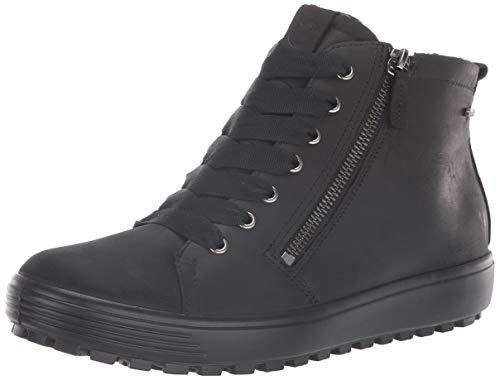 ECCO Women's Soft 7 TRED Gore-TEX High Sneaker, Black, 40 M EU (9-9.5 US)