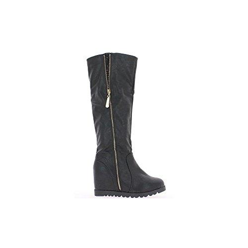 Botas negras con tacón de 6cm