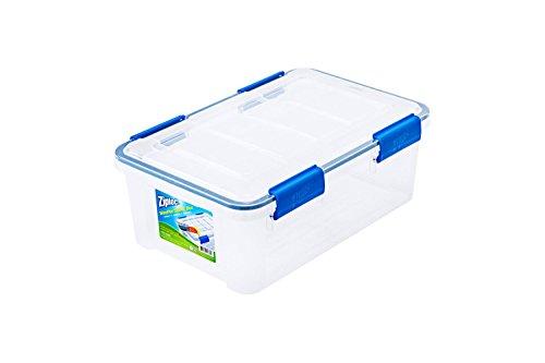 (Ziploc 16 Qt./4 Gal. WeatherShield Storage Box, Clear)