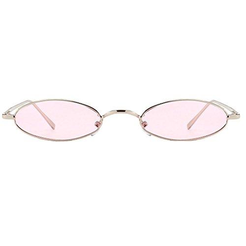 Cómodo de Complimentos rosa Sol Resalta marco color Hombre de Personalidad Gusto Homyl Gafas Mujer lent para Vanguardista Fqw5UU7