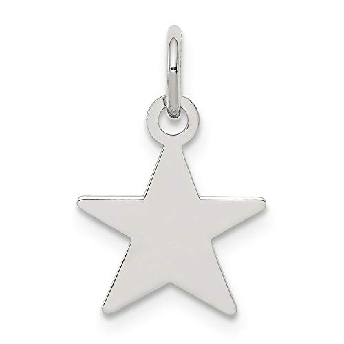 Martha Urn - 925 Sterling Silver Engraveable Star Disc Pendant Charm Necklace Celestial Engravable Shaped Fine Jewelry Gifts For Women For Her
