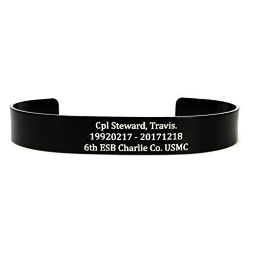 """BME Black Memorial Bracelet 7"""" X .5"""""""