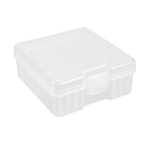 uxcell Hard Plastic Large Battery Storage Box Holder Organizer Protective Container for 100pcs AAA -