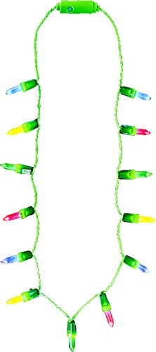 Rhode Island Novelty Holiday Christmas Light-Up Party Supply Mini Christmas Lights Necklace (1 per -