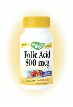 Nature's Way - Folic Acid, 800 mcg, 100 capsules