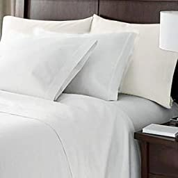HC Collection Bed Sheets Set, HOTEL LUXURY 1800 Series Egyptian Quality Platinum Collection Bedding Set, Deep Pockets, Wrinkle & Fade Resistant, Hypoallergenic Sheet & Pillow Case Set (Queen, White)
