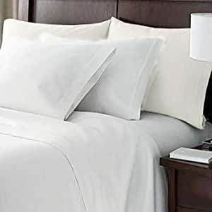HC Collection Bed Sheets Set, HOTEL LUXURY Platinum Collection 1800 Series Bedding Set, Deep Pockets, Wrinkle & Fade Resistant, Hypoallergenic Sheet & Pillow Case Set (Queen, White)