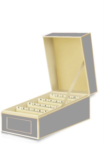 Semikolon Business Card File Box, Dividers A to Z, Grey (3230015) -