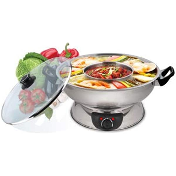 Narita 4 5q Electric Stainless Steel 2 Way Hot Pot With A Free Pack Of Soup Base From Little Sheep Kitchen Dining