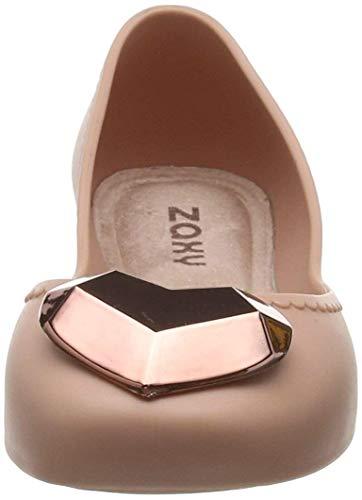 Womens Metallic Shoes Ballerinas Rose Heart Start Flats Zaxy wUqOZZ