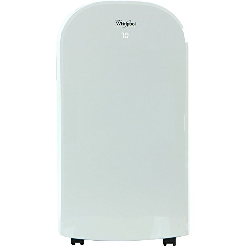 Whirlpool 12,000 BTU Single-Exhaust Portable Air Conditioner with Remote Control in White, Rooms up to 250-Sq. Ft.