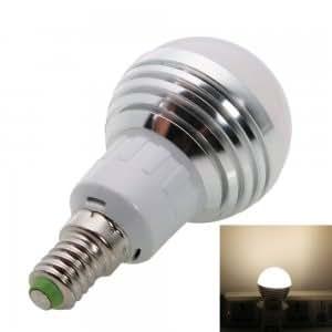 E14 3W 240-270LM 2800-3200K Warm White LED Light Bulb (85-265V)