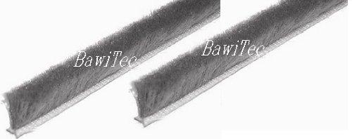 BawiTec Joint brosse autocollant L 10/m 6,7 x 5/mm
