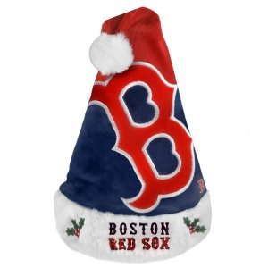 Boston Red Sox Official MLB One Size Santa Hat by Forever Collectibles Boston Red Sox Santa Hat