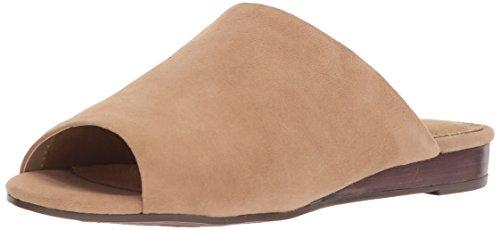 Aerosoles Womens Bitmap Slide Sandal Tan Suede n9lSpD6
