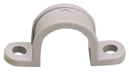Gardner Bender GCC-610 2-Hole Heavy Duty Conduit Strap, 2-3/8 In, Plastic, Gray, 2-Inch 2 Hole Plastic Strap