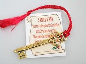 Cathedral Santa - Cathedral Art CO407 Santa's Key Ornament, 2-1/2-Inch